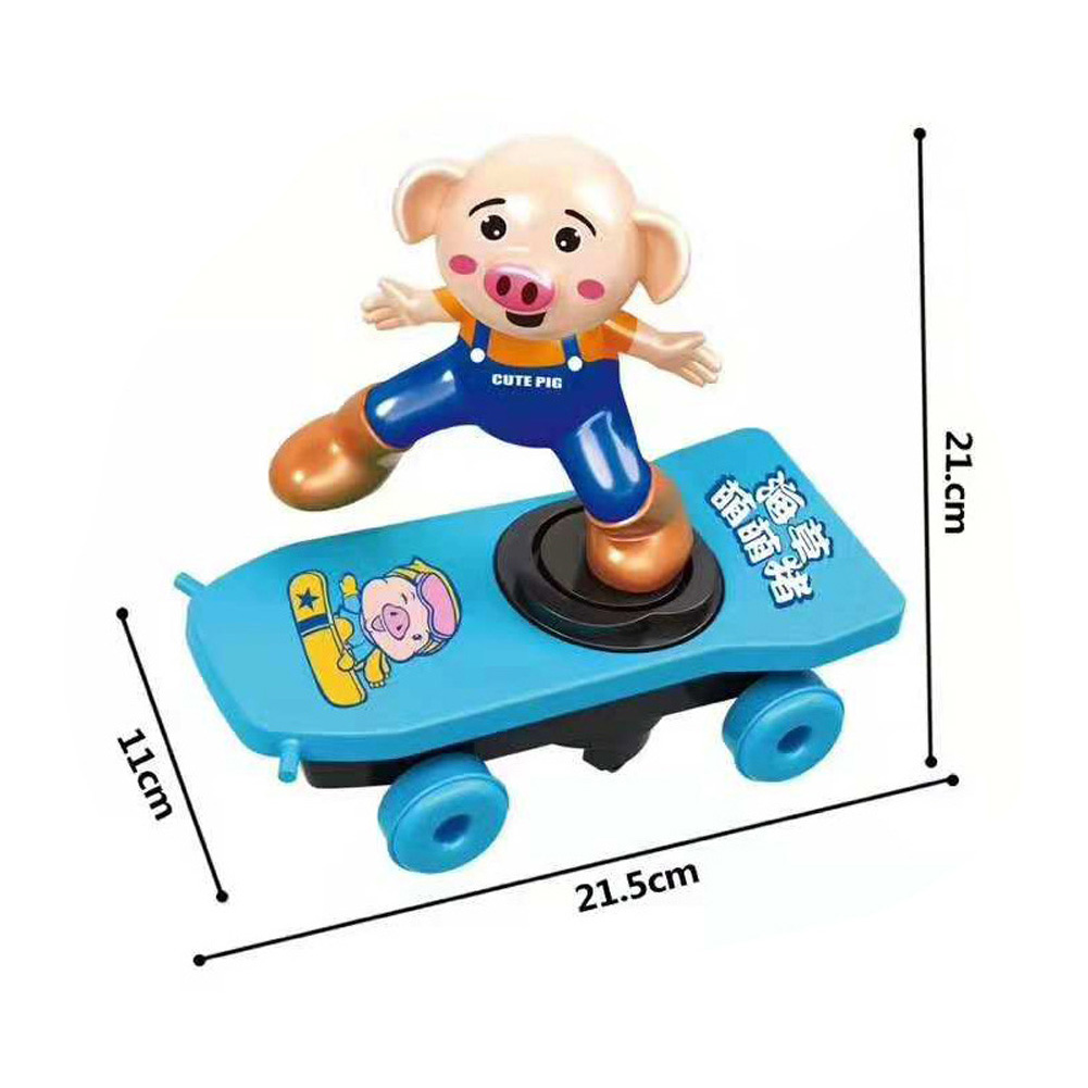 Super Heroes Spiderman Ultraman Stunt Scooter Skateboard Toys Dance Hero Light Music 360 Rotation Toys for Boys Seaweed Pig Scooter