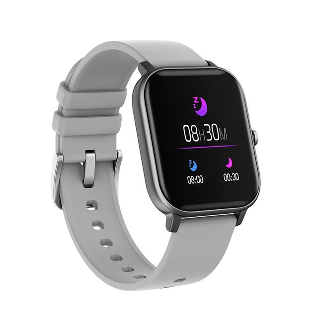 P8 Smart Watch Men Full Touch Fitness Tracker Blood Pressure Smart Clock Women GTS Smartwatch gray