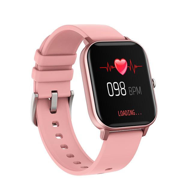 P8 Smart Watch Men Full Touch Fitness Tracker Blood Pressure Smart Clock Women GTS Smartwatch Pink