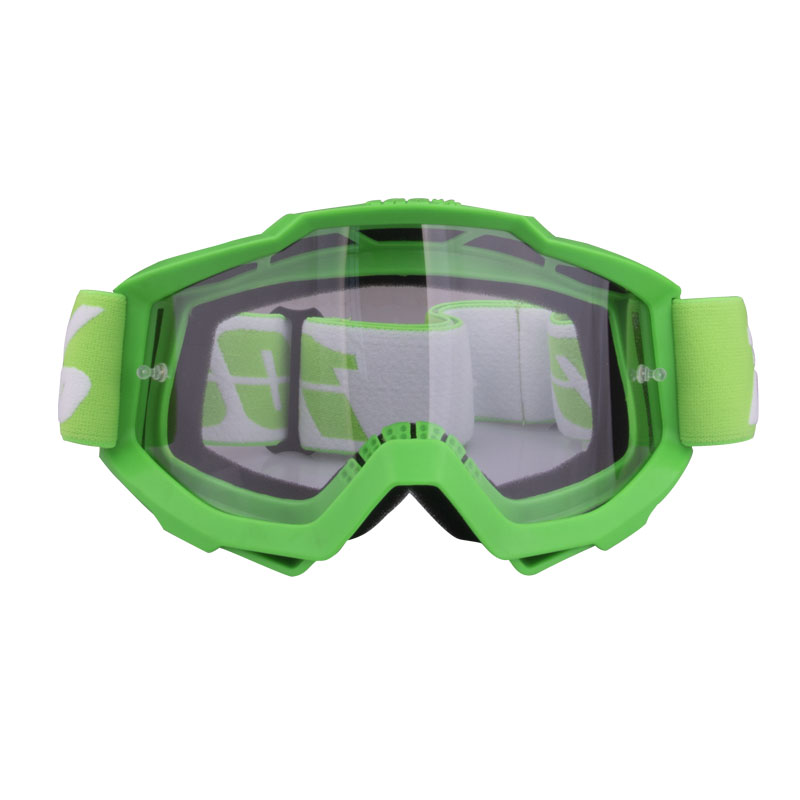 Motorcycle Goggles  Riding  Off-road Goggles Riding Glasses Outdoor Sports Eyeglasses Sand-proof Windproof Glasses Green transparent