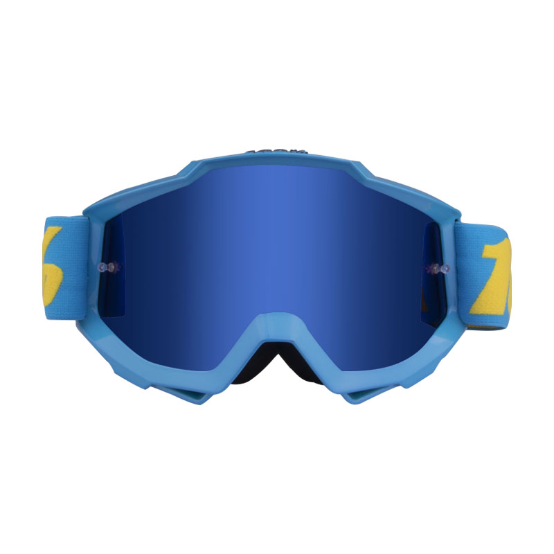 Motorcycle Goggles  Riding  Off-road Goggles Riding Glasses Outdoor Sports Eyeglasses Sand-proof Windproof Glasses Lake blue