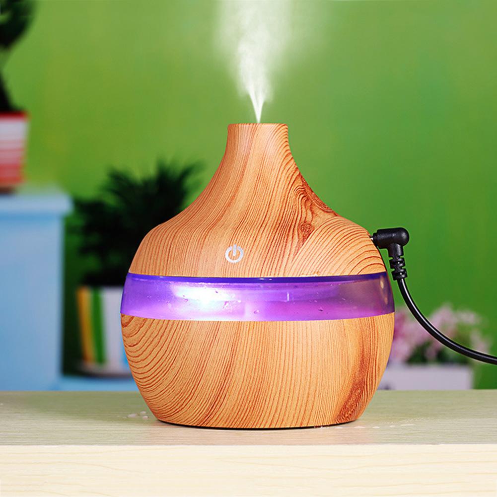 Water Drop Shape Air Humidifier USB Charging Mute Large Capacity Home Humidifier Light wood grain
