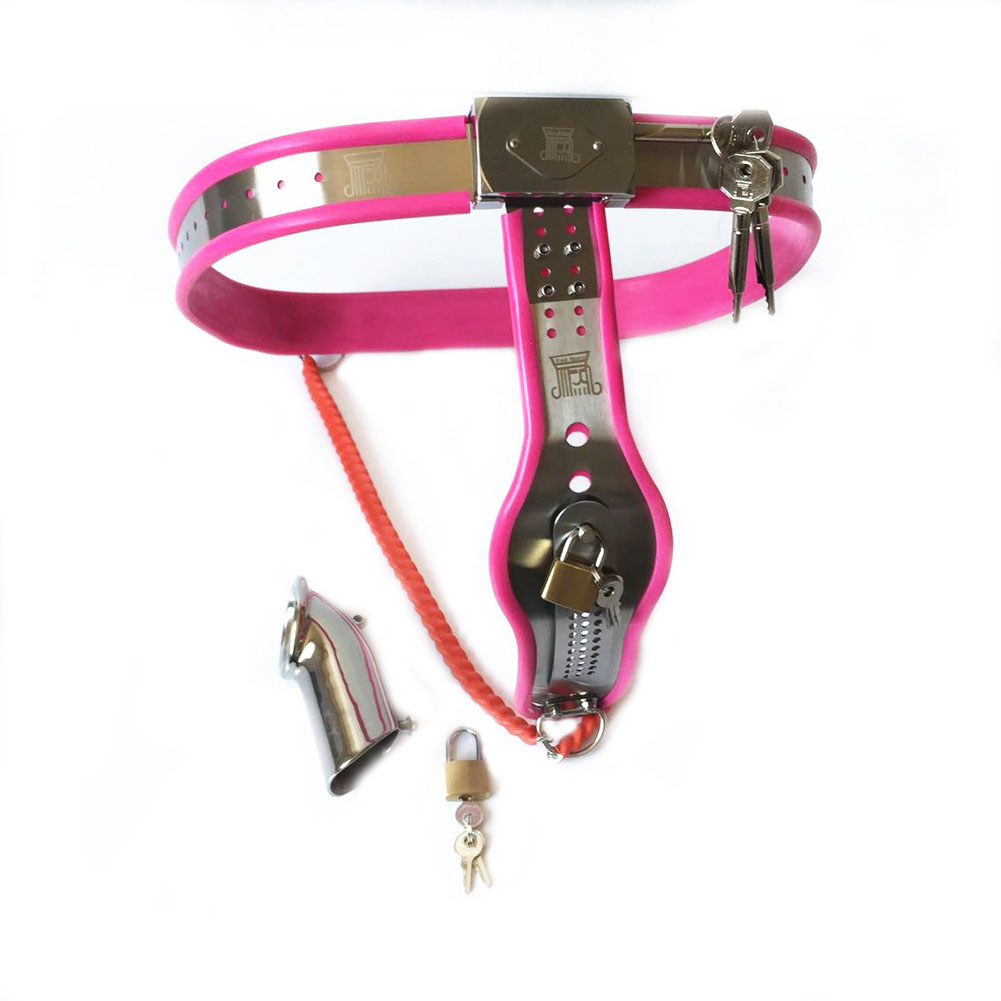 Universal Male Female Stainless Steel Type Y with Chastity Pants Unisex Chastity Belt Restraints Tool Waist 90-110cm (35.5-45in)