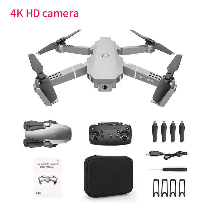 E68 Remote Control Upgraded Drone Wide Angle 4K 720P 1080P HD Camera Quadcopter Foldable WiFi FPV Four-axis Drone Altitude Hold 4K camera