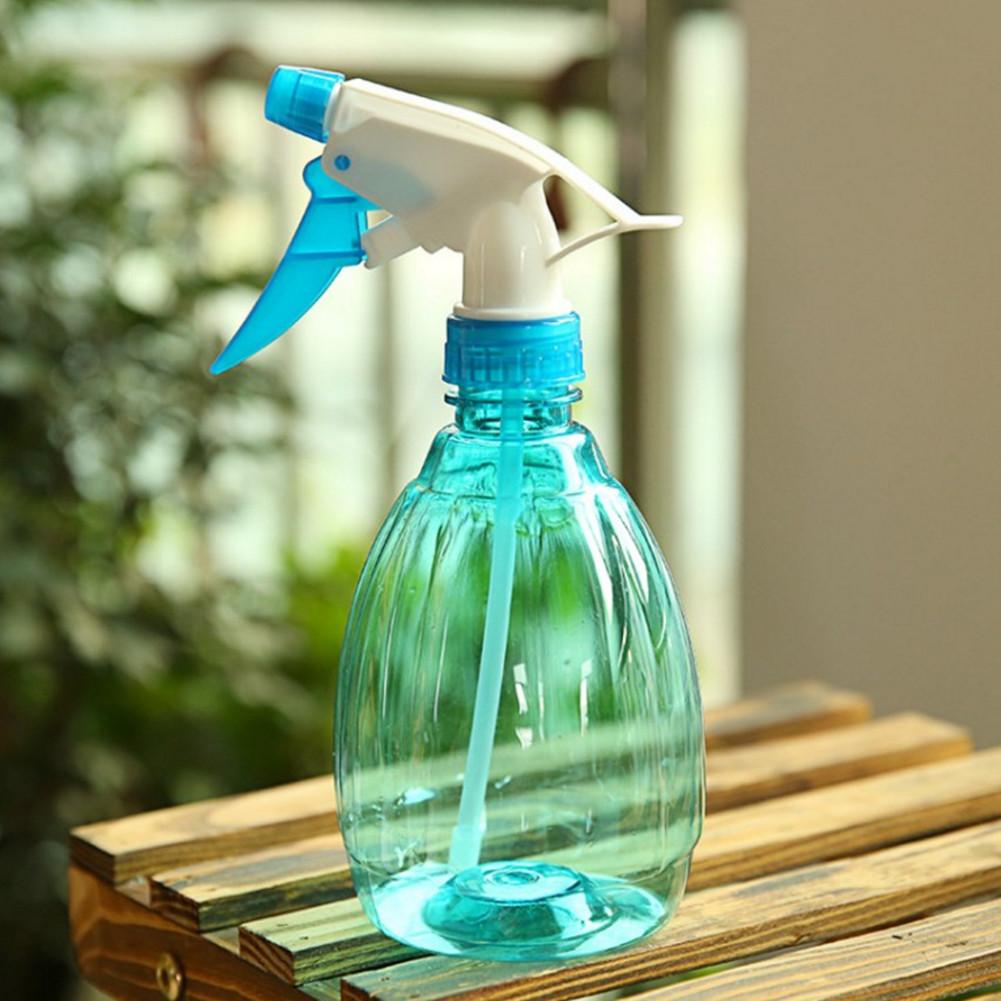 Disinfectant Spray Pot Watering Bottle Hand Trigger Transparent Kettle for Garden Flower Plant  blue