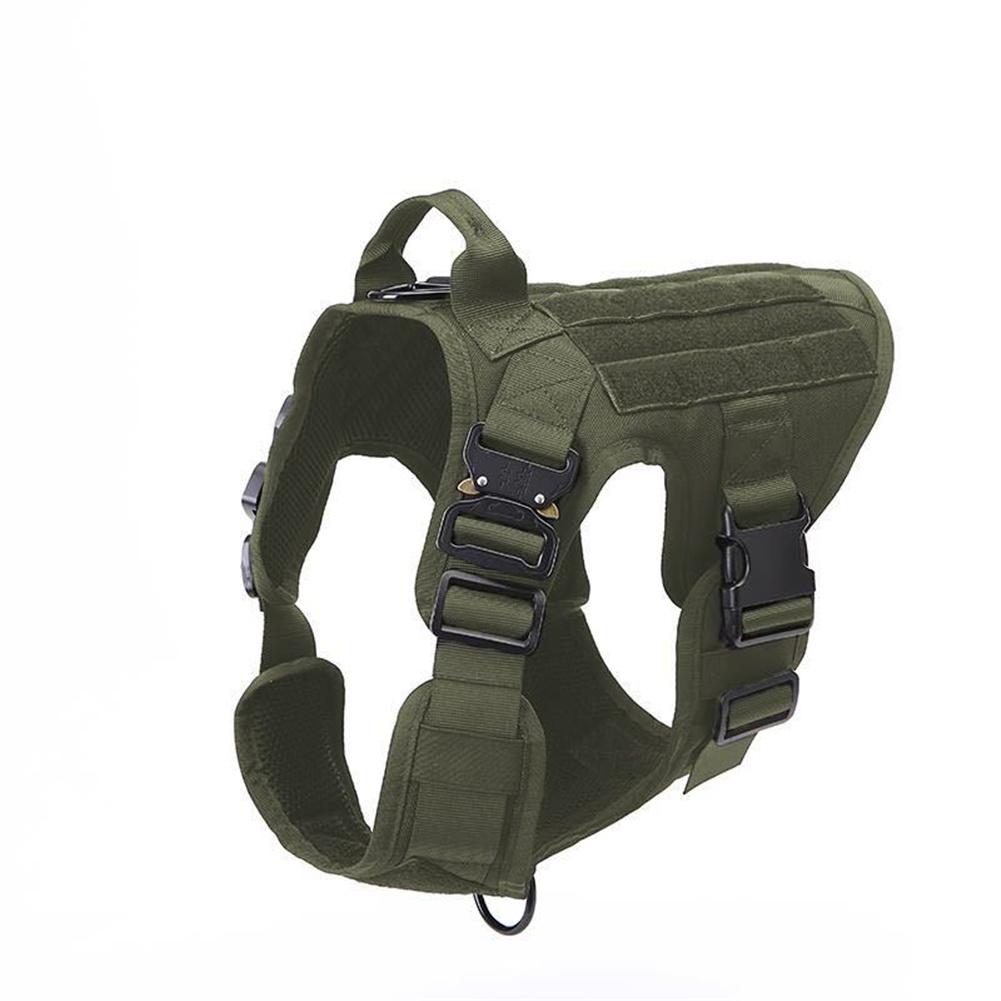 1000d Nylon Dog  Vest Outdoor Pet Vest With Buckle Quick Release Vest For Dog green_L