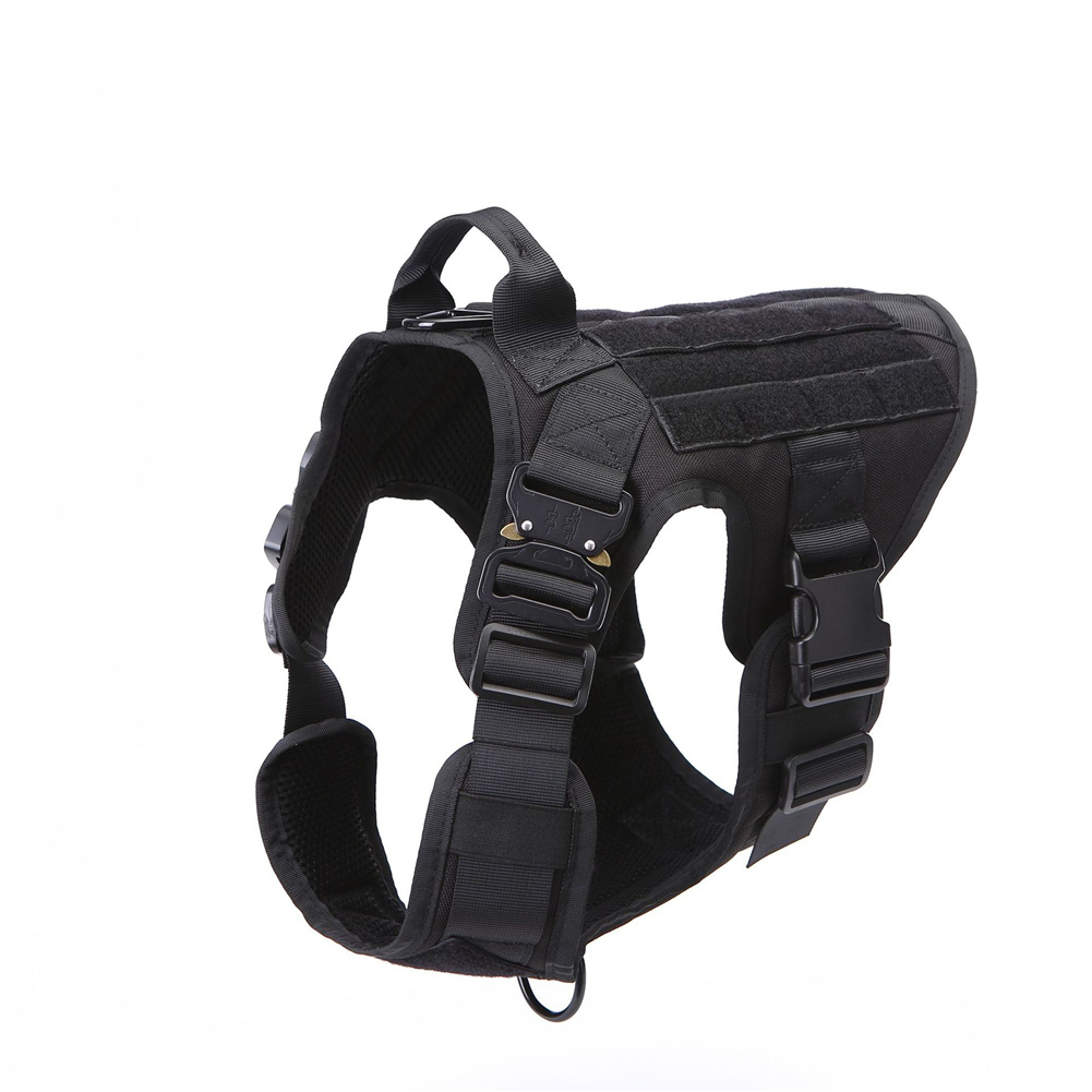 1000d Nylon Dog  Vest Outdoor Pet Vest With Buckle Quick Release Vest For Dog black_XL