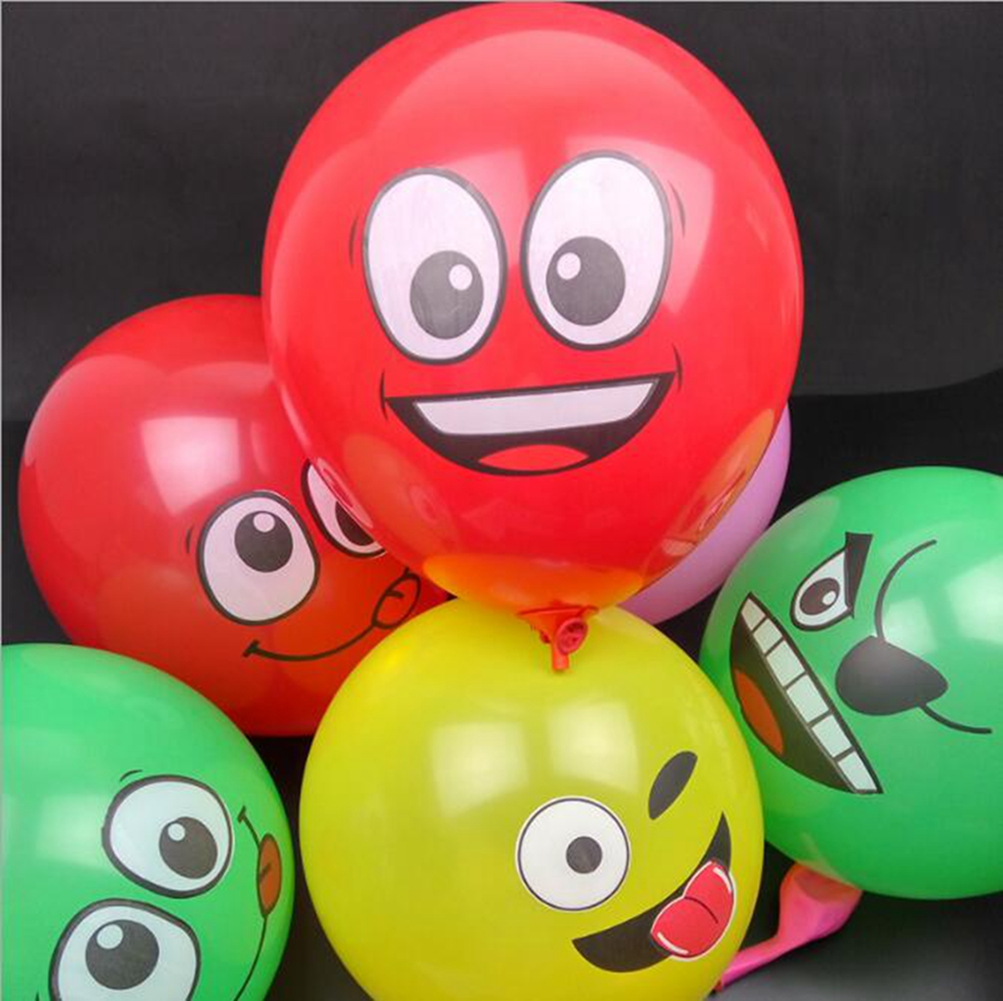 [EU Direct] 20PCS/100PCS Balloon Thickened 12 Inch Latex Face Balloon Random Style