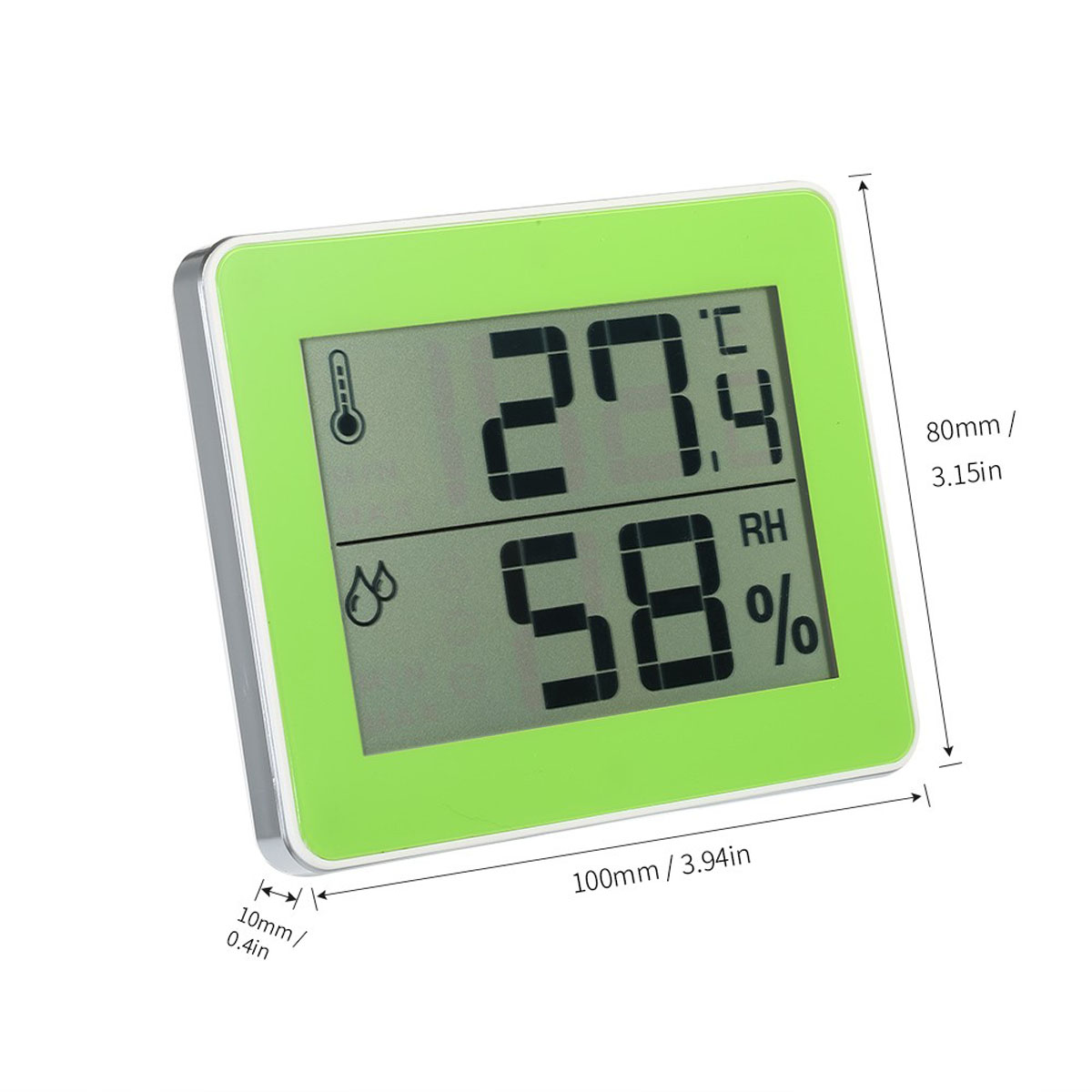 Smart LED Diaplay Screen Hygrothermograph Digital Thermometer High Precision Indoor Humidity Meter green_TS-E01-G