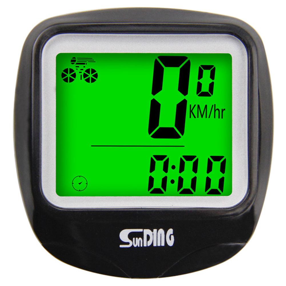 Waterproof Bike Bicycle Computer Outdoor Multifunction Cycling Odometer Speedometer with LCD Backlight black