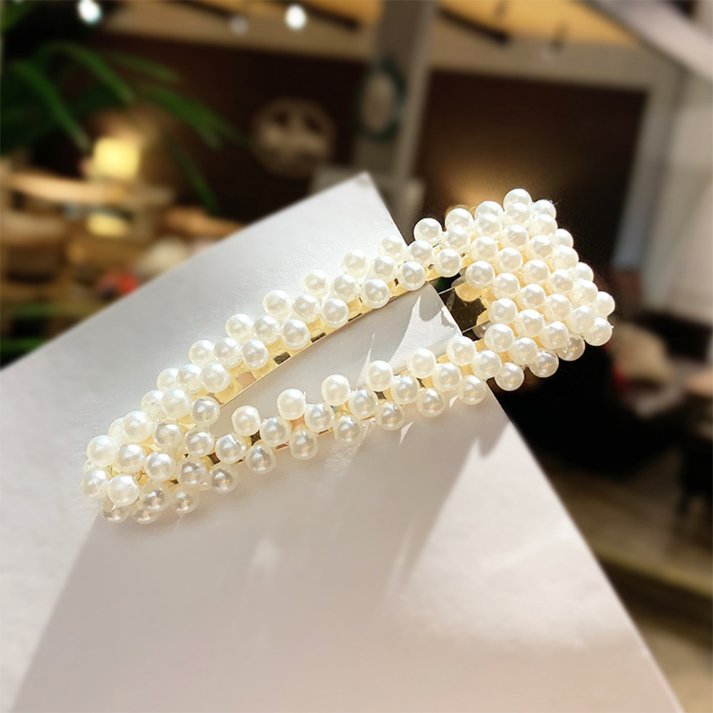 Women Girls Sweet Style All-match Stylish Simulation Pearl Hair Clips