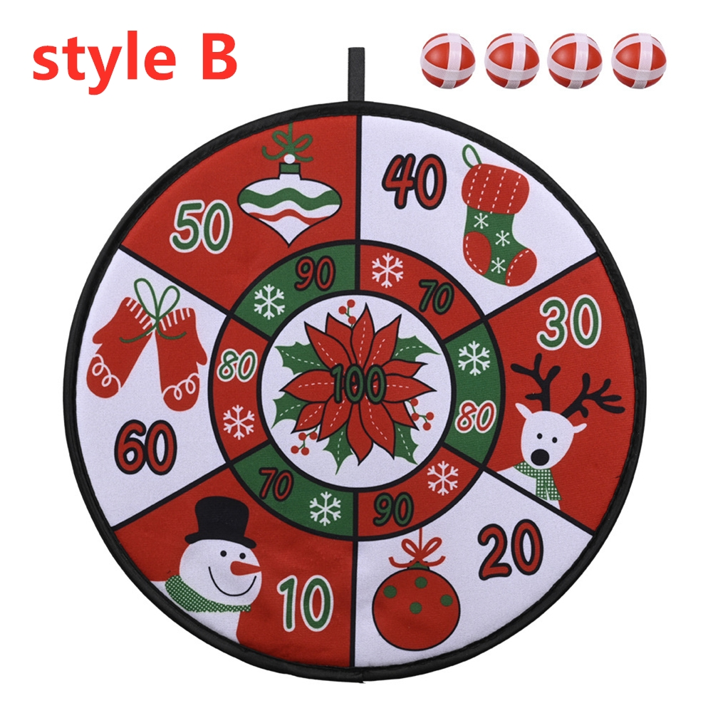 Christmas Dart Plate Set Decorative Toy Children Holiday Gifts Indoor Festival Party Accessories B