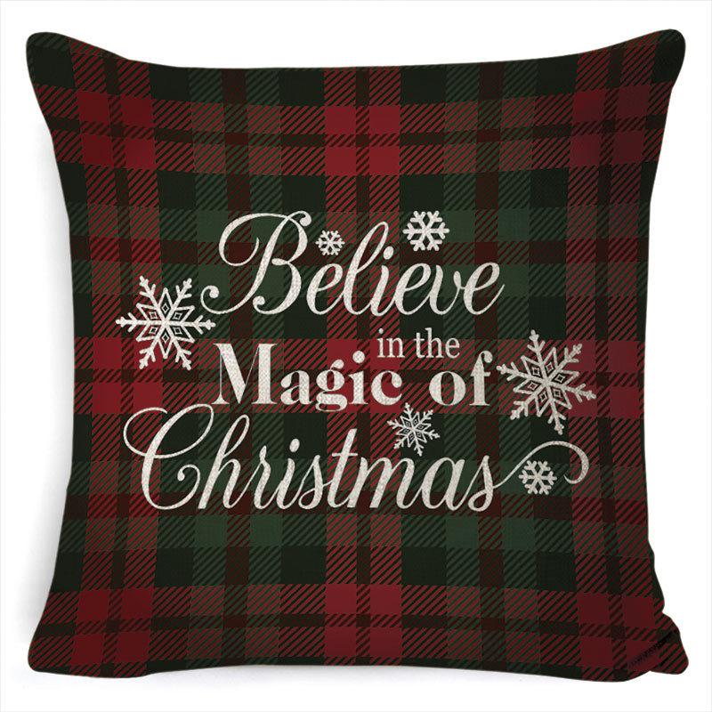 New Christmas Pillowcase Pillow Cover Cushion Cover Home Nordic Style Linen Pillow Case A6_45*45cm pillowcase