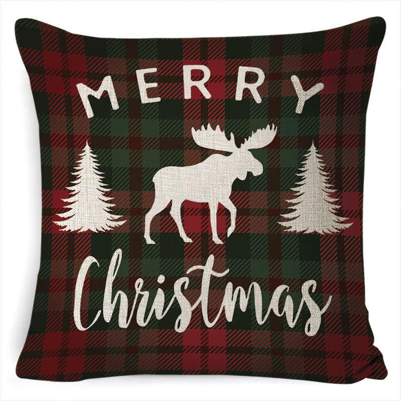 New Christmas Pillowcase Pillow Cover Cushion Cover Home Nordic Style Linen Pillow Case A7_45*45cm pillowcase