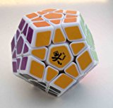 [US Direct] Dayan Megaminx 1 White 12-axis 3-rank Dodecahedron Magic Cube
