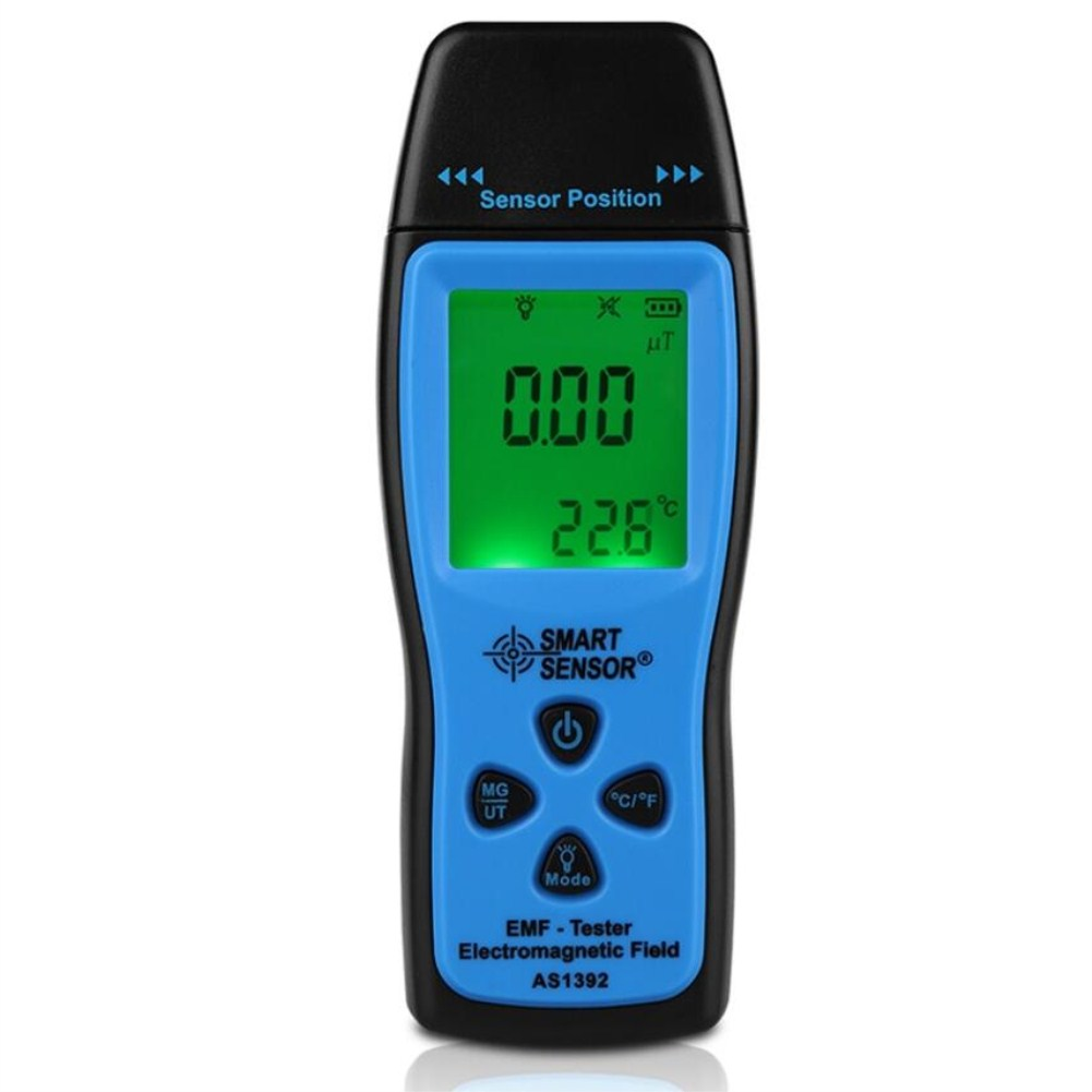 SmartSensor Digital Radiation Dosimeter Mini EMF Tester LCD Electromagnetic Field Radiation Detector Tester Meter
