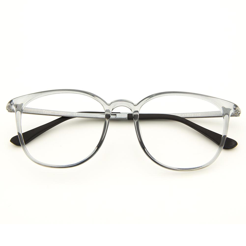 [US Direct] Cyxus Blue Light Blocking [Lightweight TR90] Glasses Anti Eye Strain Headache Computer Eyewear, Unisex (8323T01, Black) Block Droplets Grey_M