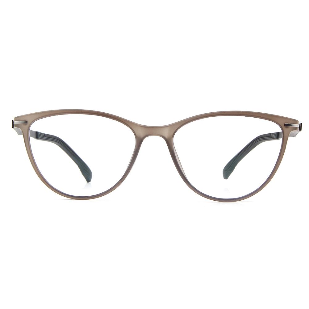 [US Direct] Cyxus Blue Light Blocking [Lightweight TR90] Glasses Anti Eye Strain Headache Computer Eyewear, Unisex (8323T01, Black) Block Droplets Tea Brown_M