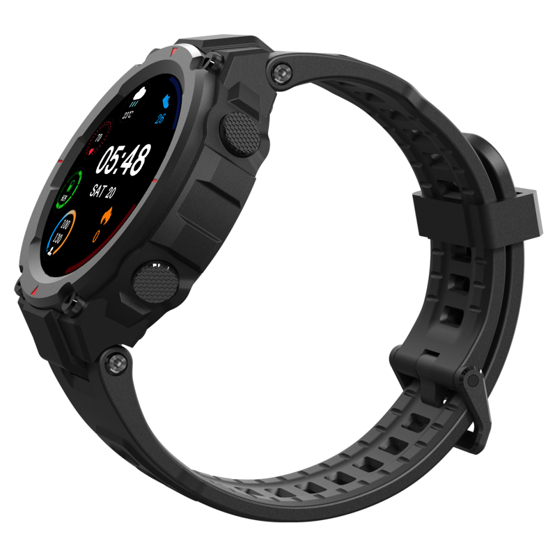 Smart Watch Heart Rate Blood Pressure Monitor Weather Music 30-day Battery Outdoor Smartwatch black