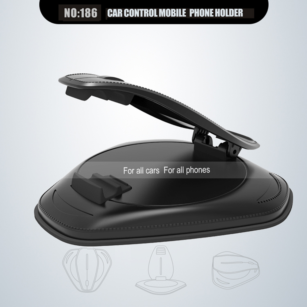 Car Dashboard Anti Slip Mat Mobile Phone Bracket Car Phone Charger Holder for iPhone Android IOS black