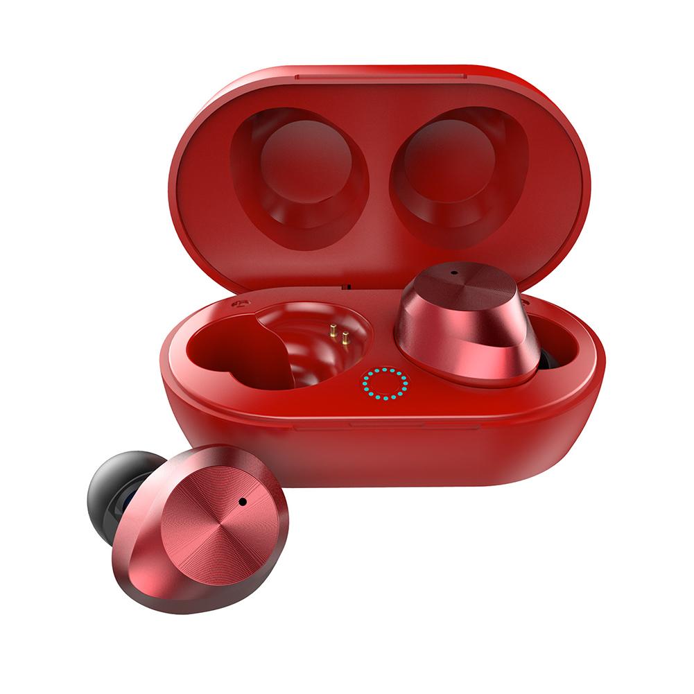 TWS-9 Wireless Mini Two Ears Touch Bluetooth Headset 5.0 Earphone  red