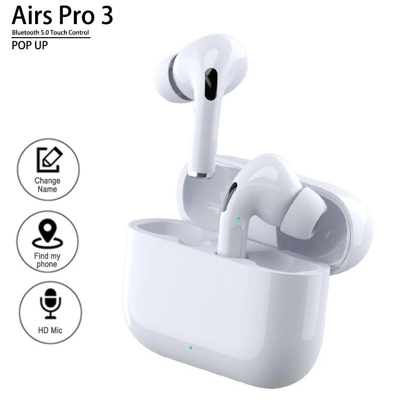 Tws Wireless Earbuds Sports Headphones Bluetooth Earphones Noise Cancel Waterproof Earphones white