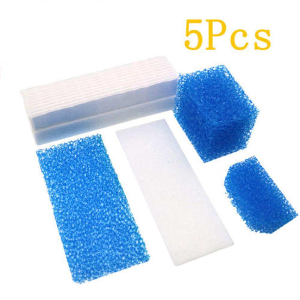 5Pcs/Set Vacuum Cleaner Filters Sponge Suit for Thomas 787203 Vacuum Cleaner Parts Accessories blue