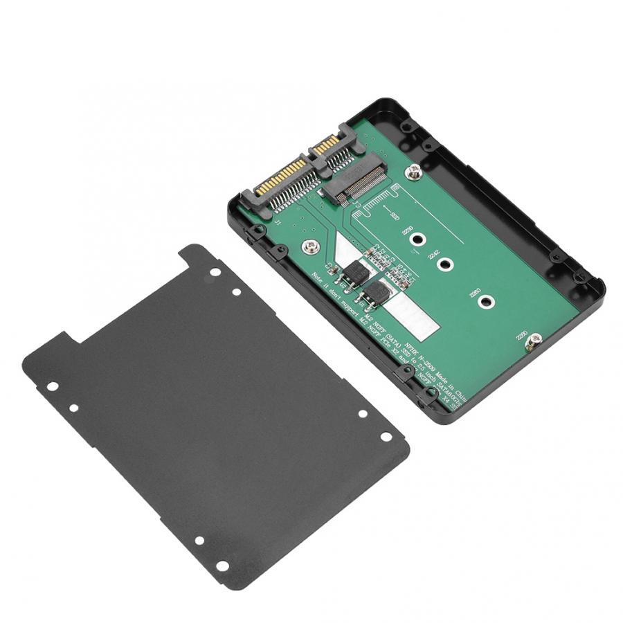 Aluminum Alloy M2 NGFF to SATA Hard Disk Box SDD Desktop Computer Host 7MM black