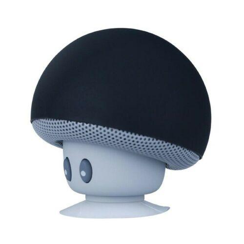 Portable Wireless Bluetooth Mini Cute Mushroom Shaped Audio Speaker Phone Bracket black