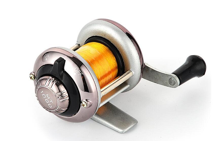 Mini Metal Bait Casting Spinning Reel Ice Fishing Reel Fish Water Wheel Baitcast Roller Ice fishing wheel -gun color
