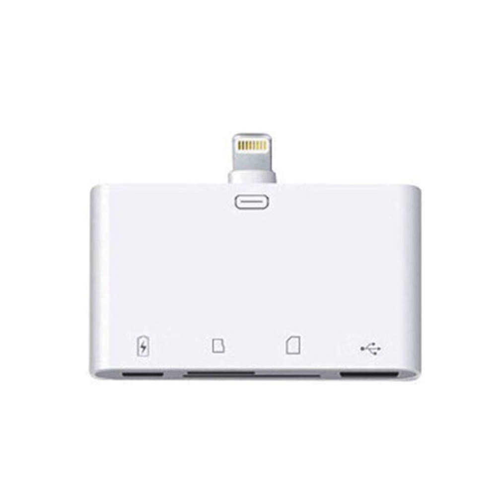 4 in 1 SD/TF/USB Card Reader for iphone Lightning Four in one without line