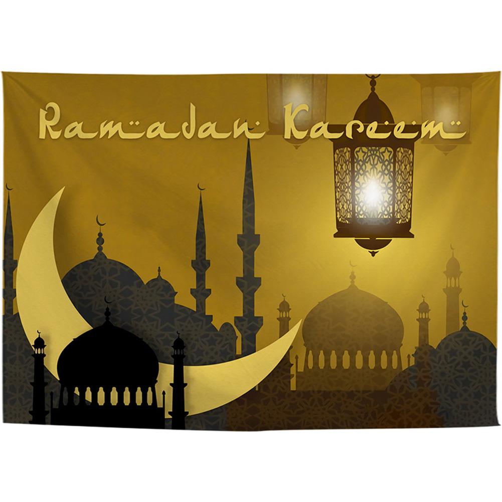 Printing Hanging Tapestry for Ramadan EID MUBARAK Decoration 7 #_140 * 100cm