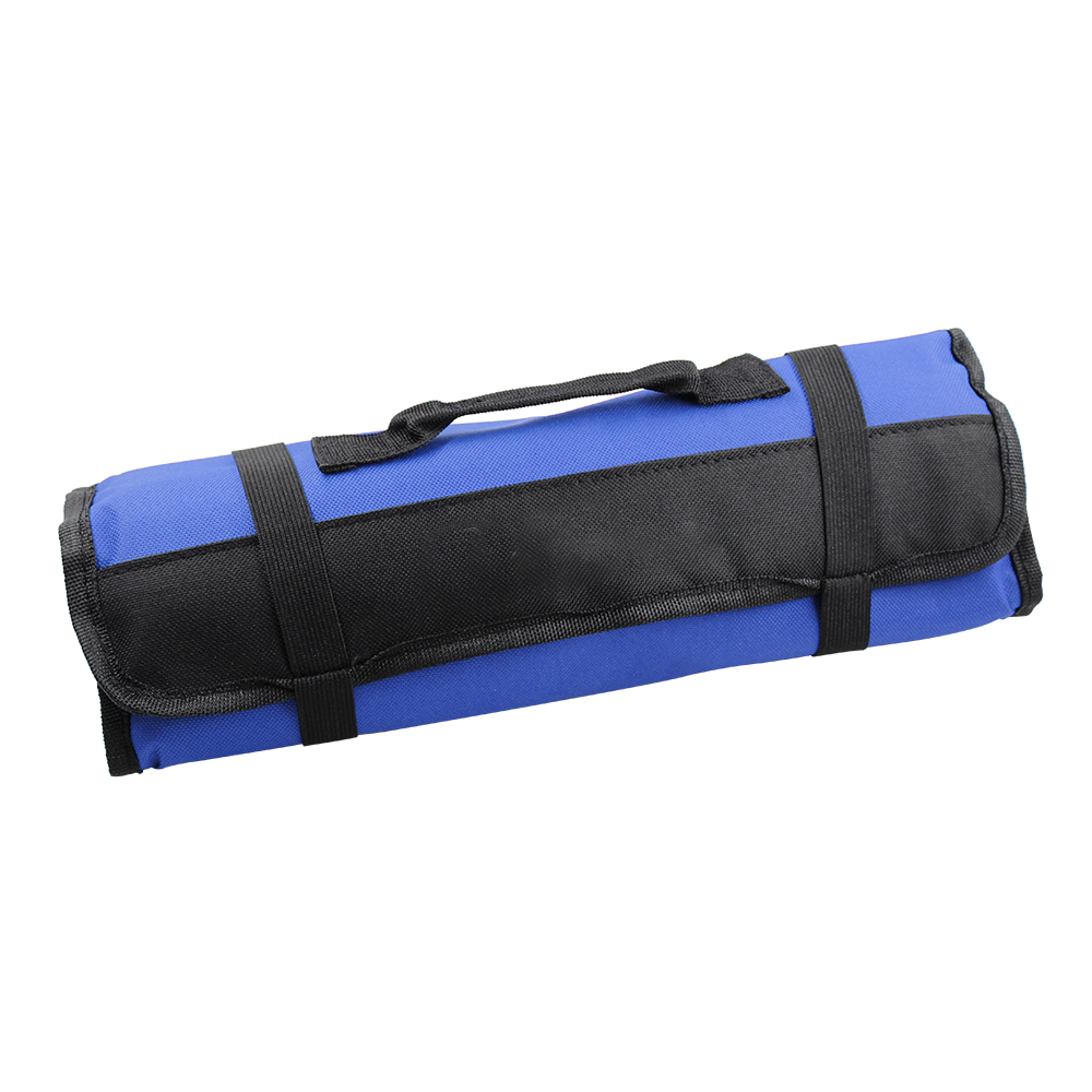 Car Tools Roll Up Tool Roll Pouch Bag Organizer Multi-function 600d Oxford Cloth Pouch blue