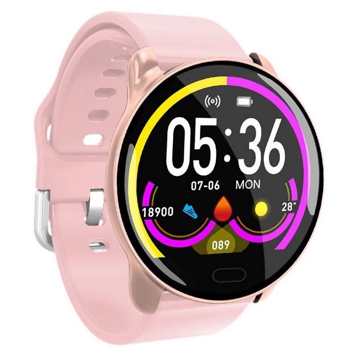 K9 Smart Bracelet Color Screen Health Monitoring Smart Reminder Bracelet Multifunctional Bluetooth Sports Bracelet Pink
