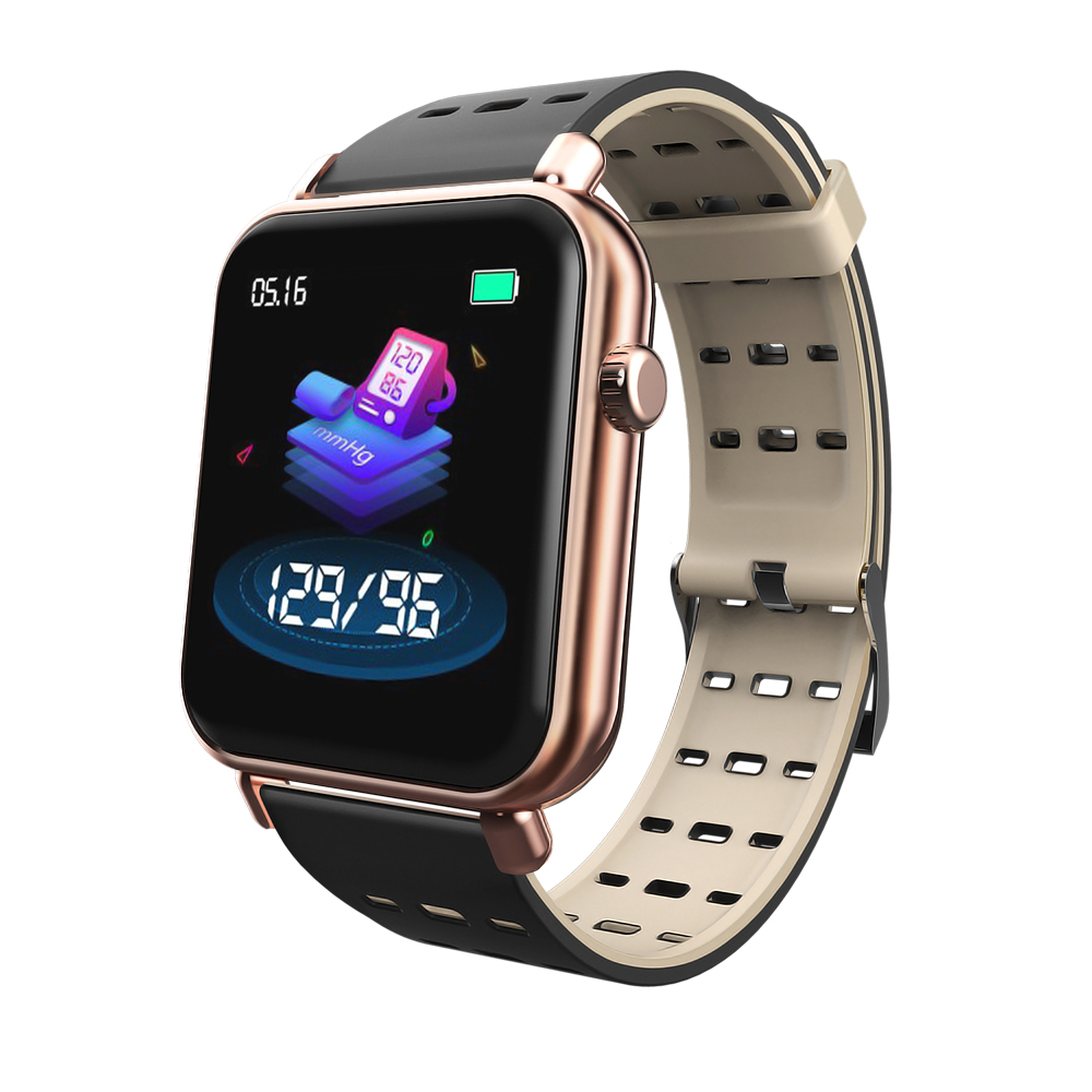 Y6Pro Smart Bracelet 1.3-inch Color Screen Real-time Heart Rate Blood Pressure Sleep Monitoring IP67 Waterproof Sports Watch rose gold silicone strap