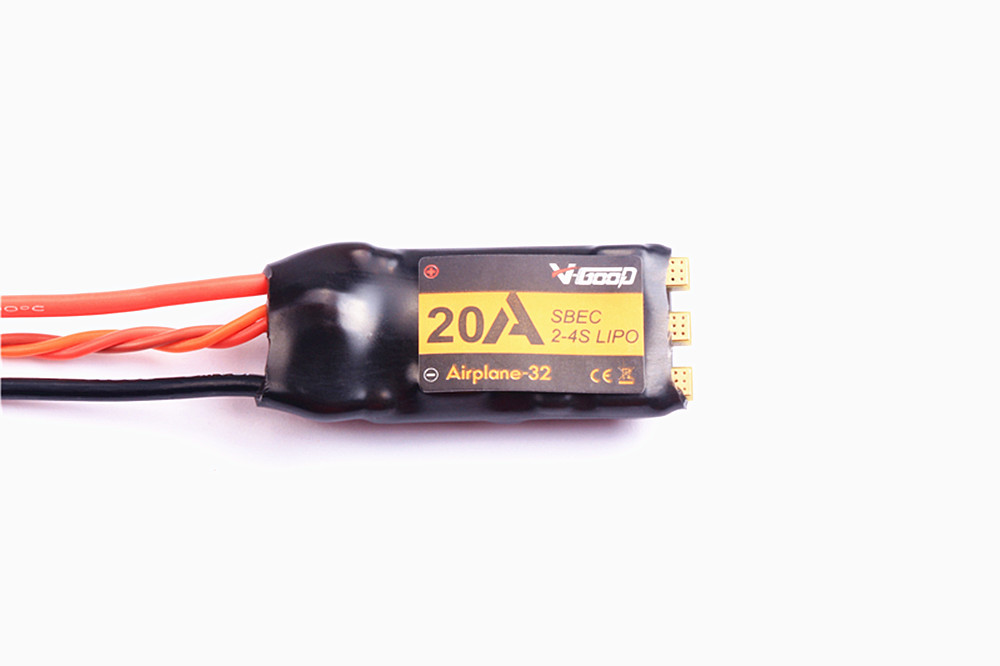 VGOOD Brushless ESC 20A 2S-4S 32-Bit With 1.5A SBEC for Fixed Wing RC Airplane Spare Part Short version KSX3814