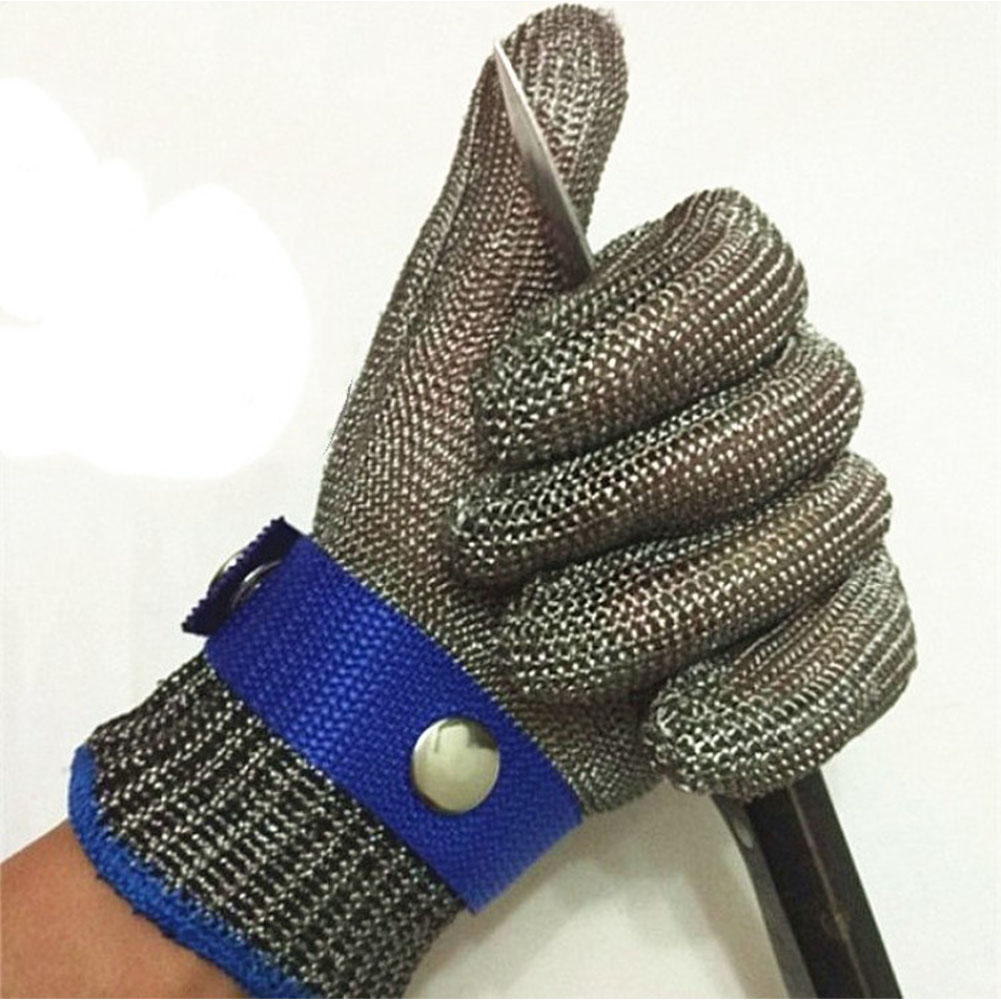 Stainless Steel Wire Weaving Anti-cutting Wear-resistant Steel Wire Gloves with Metal Buckle