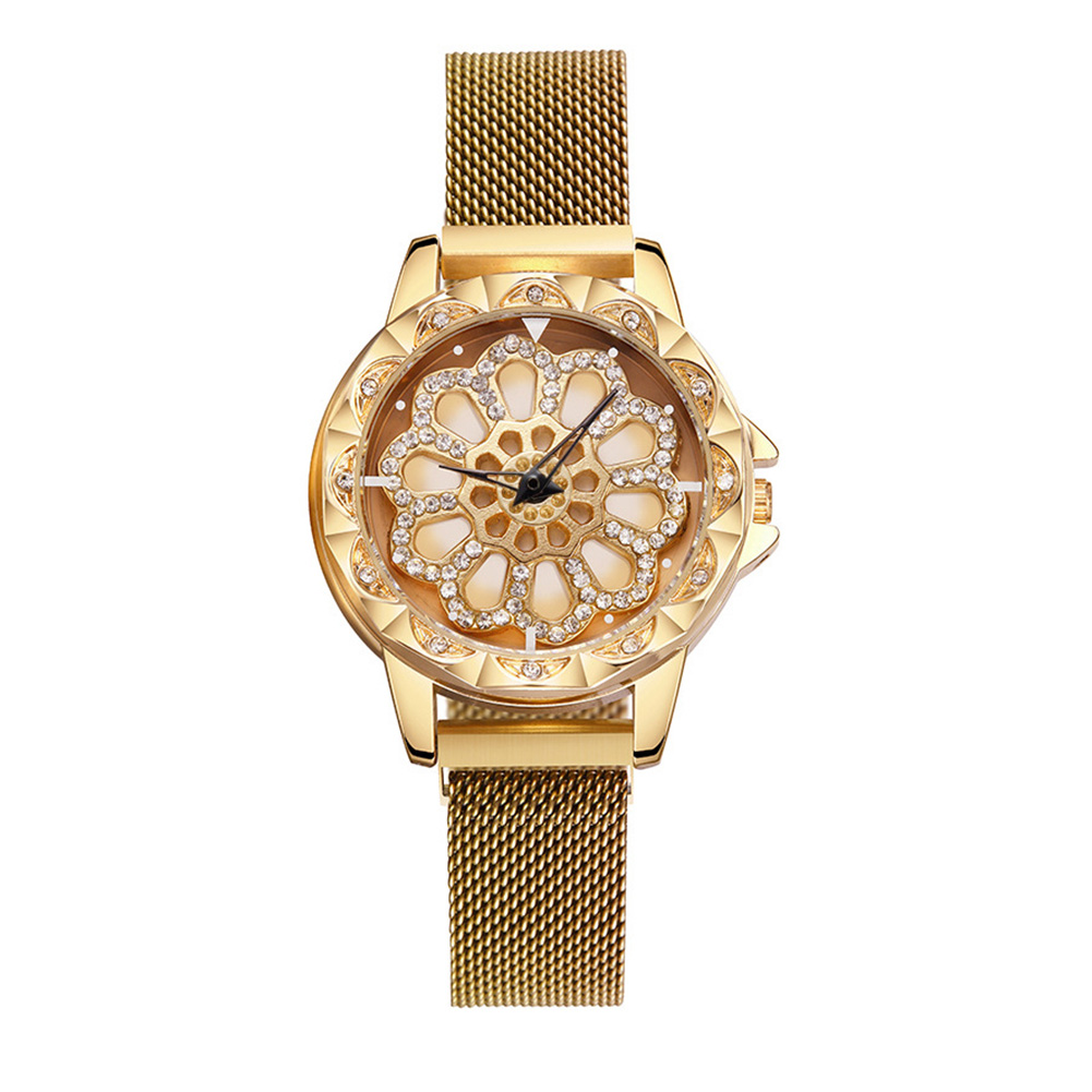Explosive models come to run ladies magnet buckle Milan with quartz wrist watch female models Gold