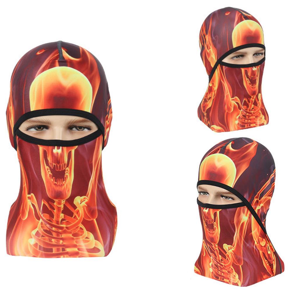 Skull Head Magic Turban Outdoor Sports Cycling Mountaineering Ski Headscarf Warm Breathable Mask 7#_One size