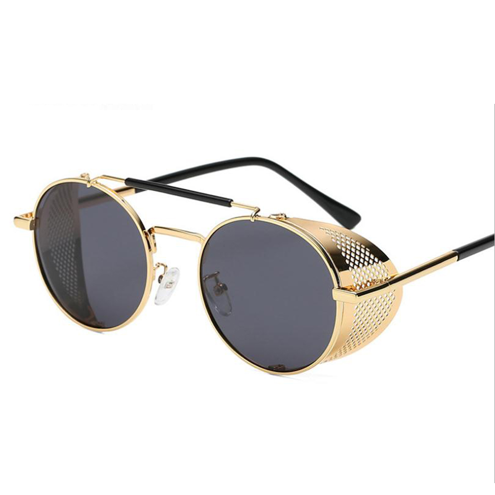Outdoor Fashion Sunscreen Glasses TAC Lens Polarized/Not Polarized Glasses for Outdoor Sports Gold frame black gray piece_Non-polarized