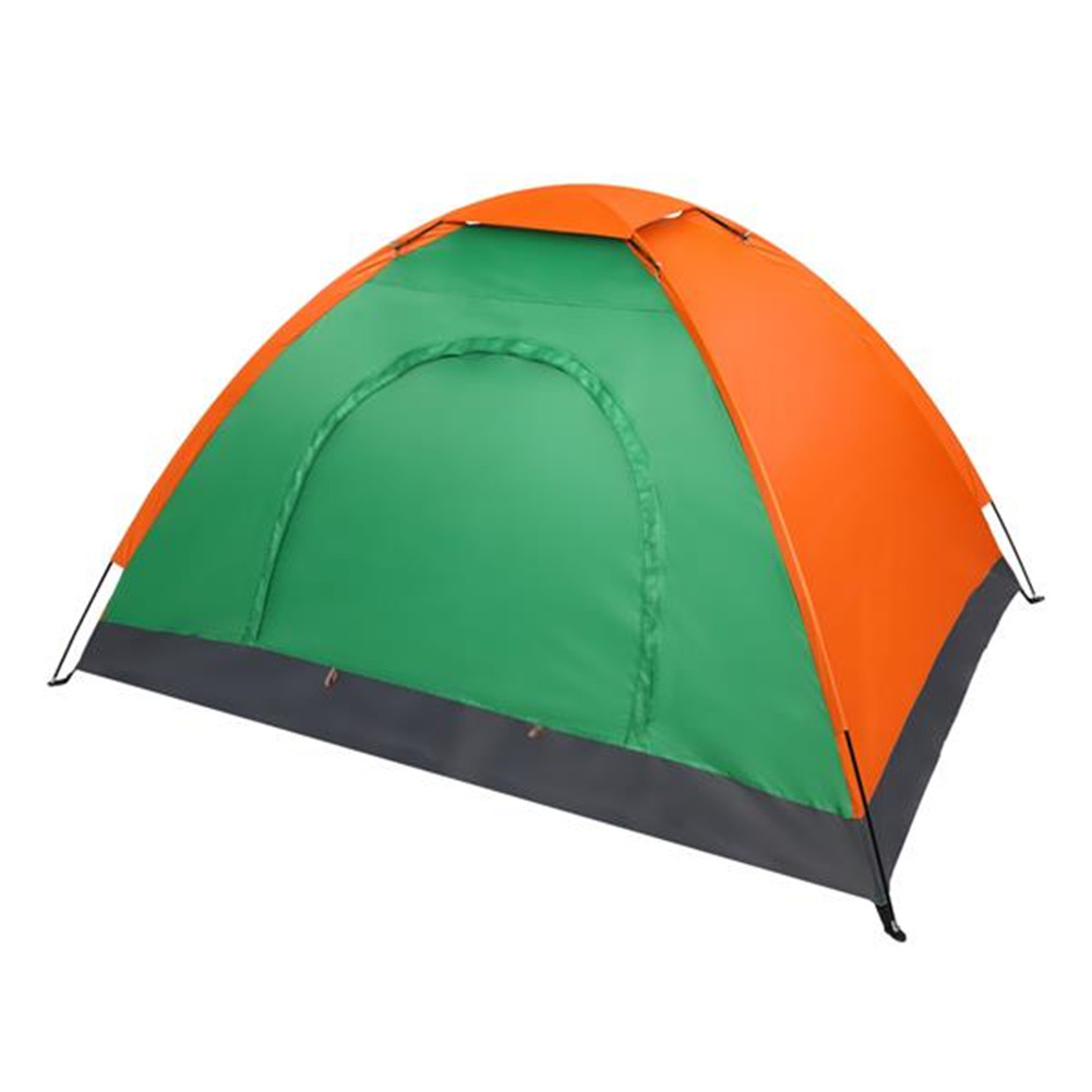 [US Direct] 2 Person Tent Windproof Double Door Single Layer Camping Tent Of Oxford Cloth green