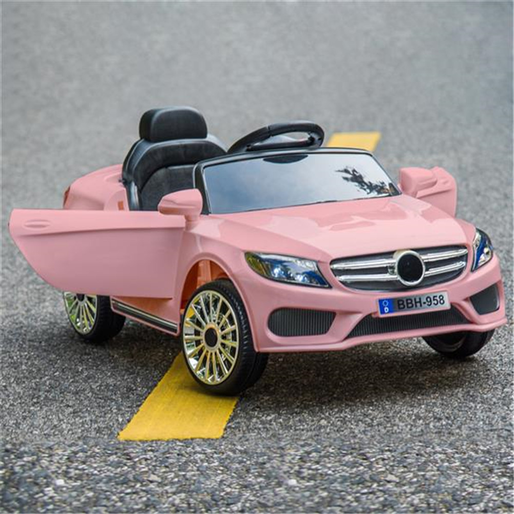 [US Direct] Children Electric Car Dual-drive 3-speed Transmission Remote Control Car Pink