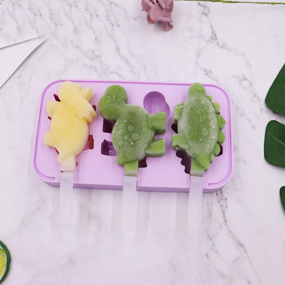 Cartoon Ice Cream Mold Diy Silicone Ice Maker Mould Kitchen Accessories random_dinosaur