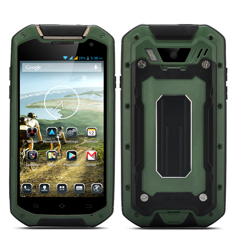 IP68 Quad Core Smartphone - Commando (Green)