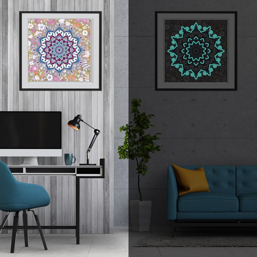 5D DIY Diamond Painting Luminous Special Shape Glow Diamond Painting Cross Stitch Wall Home Decor YGSMT02