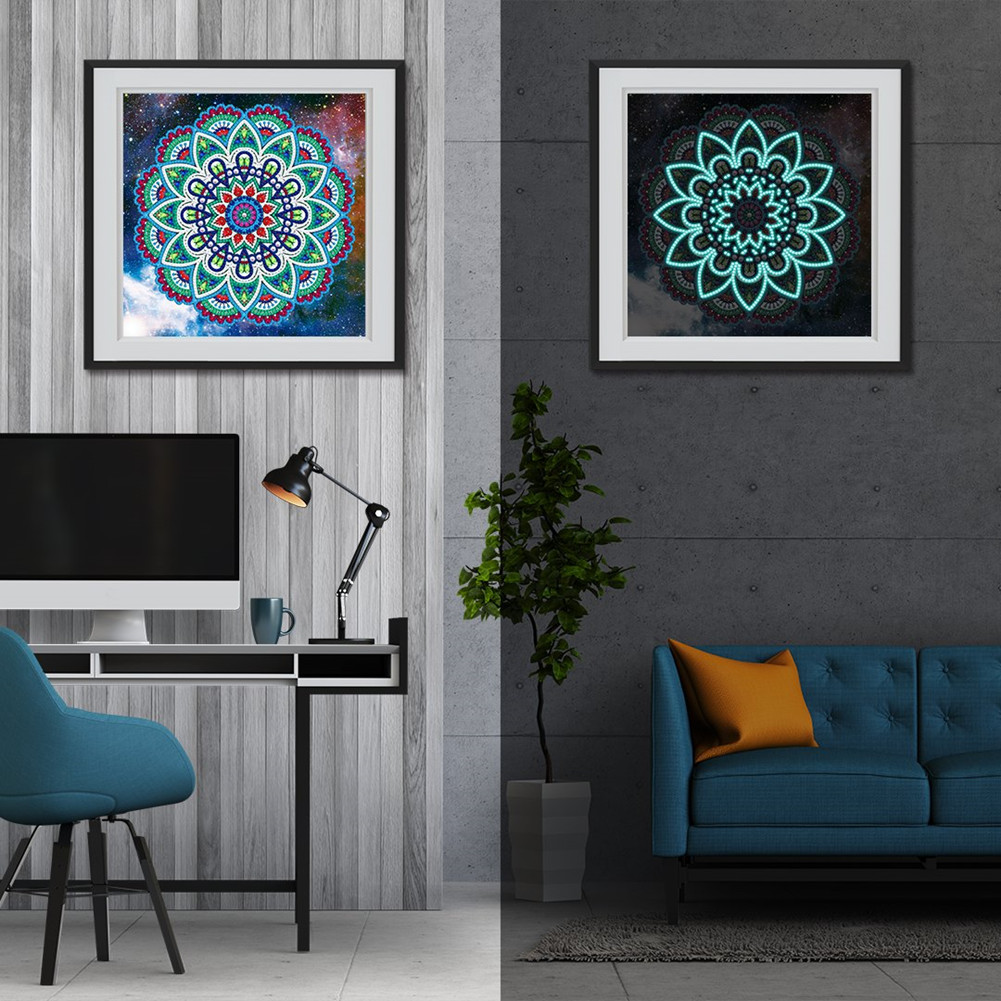 5D DIY Diamond Painting Luminous Special Shape Glow Diamond Painting Cross Stitch Wall Home Decor YGSMT01