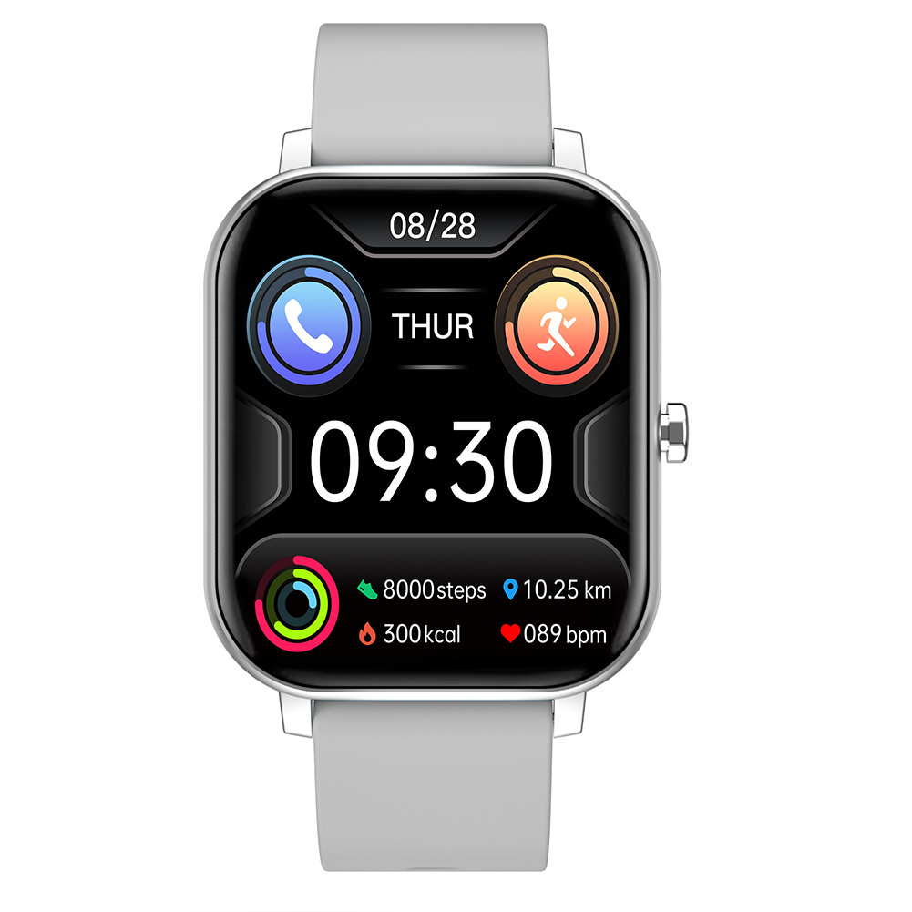Fy03 Smart Watch Color Screen Heart Rate Blood Pressure Music Control Step Smart Watch gray