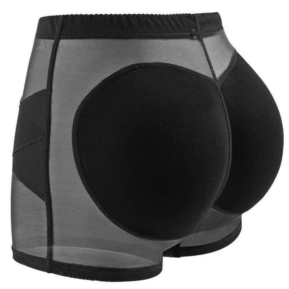 Women's Hip Shaping Pants  Sexy Slimming  Mid-waist Buttocks Padded  Shaping Pants Black _m