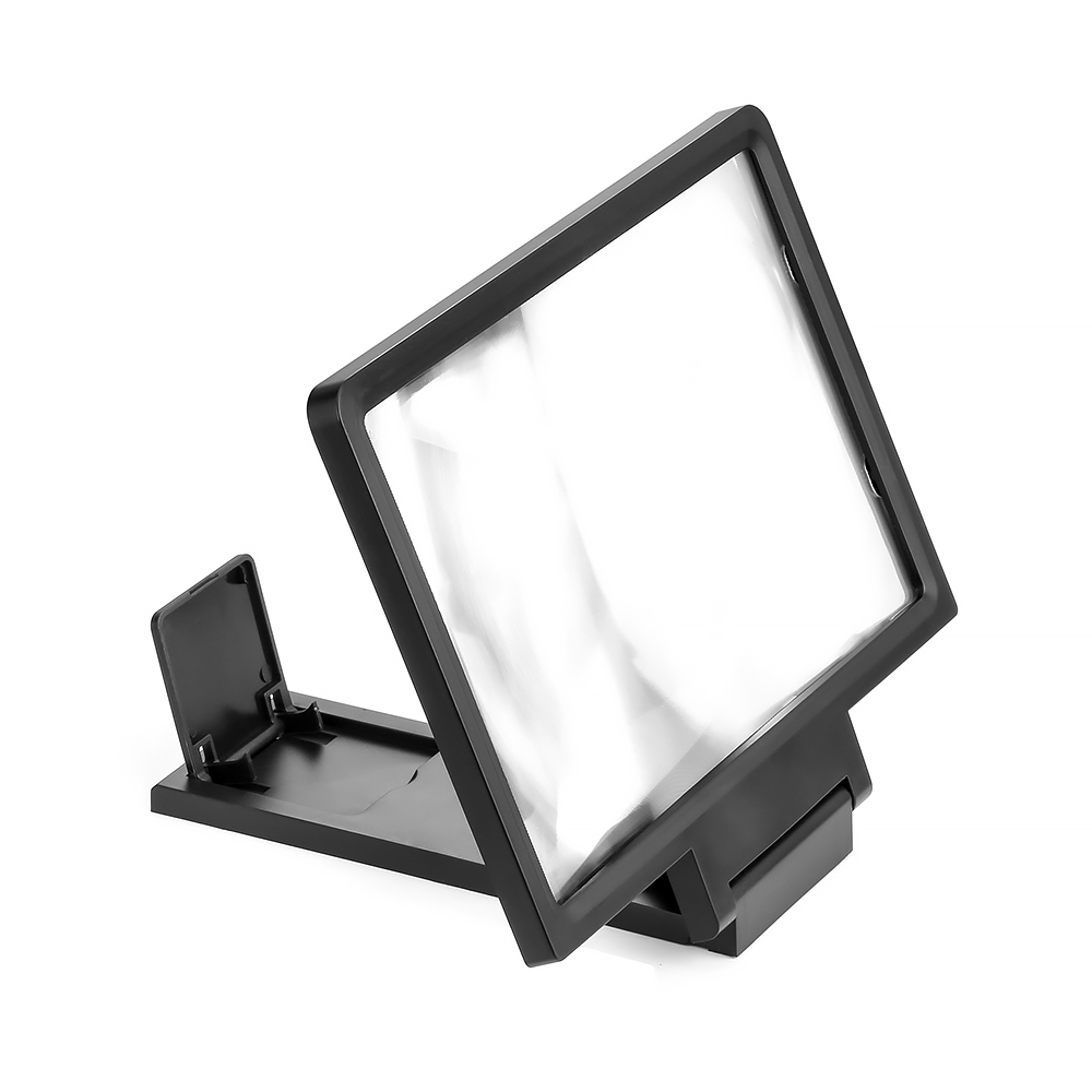 3D Mobile Phone Screen Magnifier HD Foldable Video Support Magnified Screen black