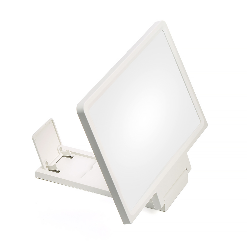 3D Mobile Phone Screen Magnifier HD Foldable Video Support Magnified Screen white